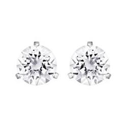 Solitaire pierced earrings...